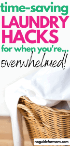 time saving laundry hacks for when you're overwhelmed