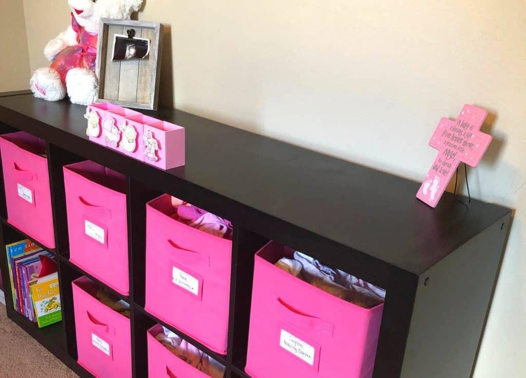 storage bins in nursery