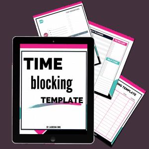 time blocking template