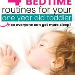 4 sample bedtime routines for your one year old toddler; toddler sleeping