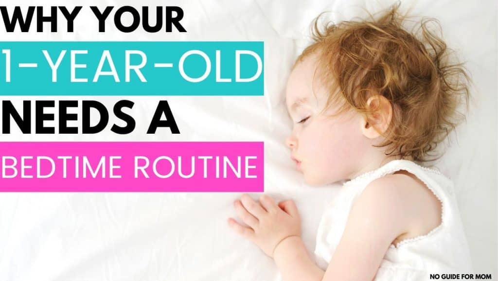 why your 1 year old needs a bedtime routine; sleeping toddler