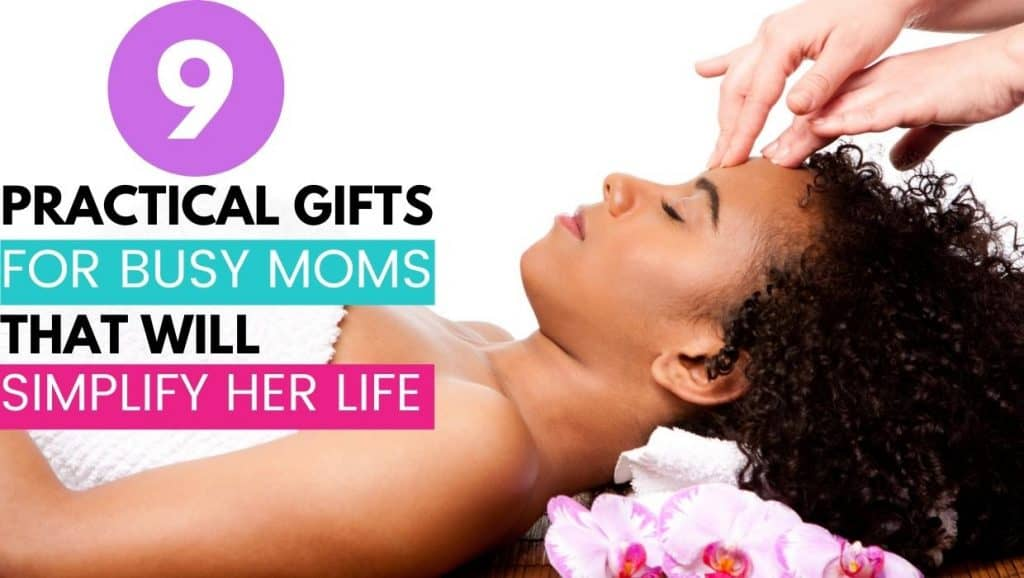 9 practical gifts for busy moms; woman at spa