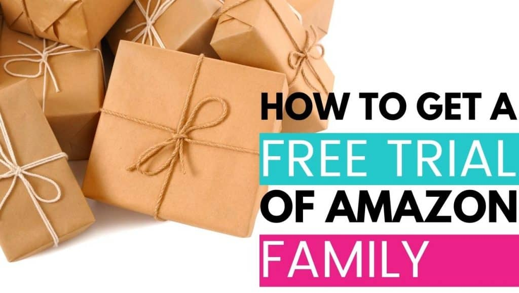 how to get a free trial of amazon family; image of packages
